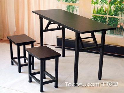 折叠长条桌,绝不过多占用空间的临时家具
