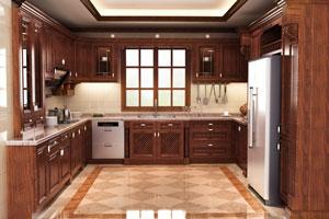 【欧式厨房】欧式厨房特点,欧式厨房柜子,电器,装修效果图