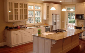 【美式厨房】美式厨房格局,美式厨房设计注意事项,吊顶,装修效果图
