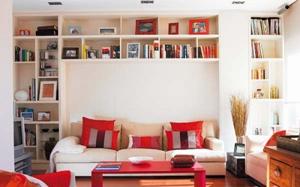 【客厅书房】客厅书房一体设计,客厅书房隔断,小户型设计,一体效果图