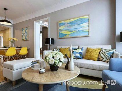 60多平米装修效果图,清新淡雅的暖色系居室