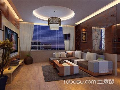 客厅圆形吊顶造型欣赏,小细节的设计之美