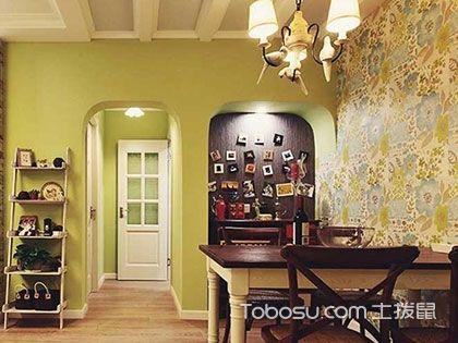 """72平米两室一厅装修效果图,""""嫩绿感""""田园风"""