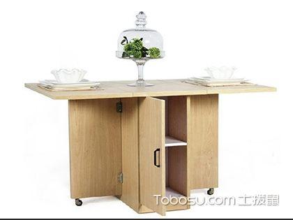 多功能折叠餐桌图片,两种类型餐桌具特色