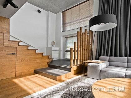 80平米loft装修效果图,打造干练简洁小空间