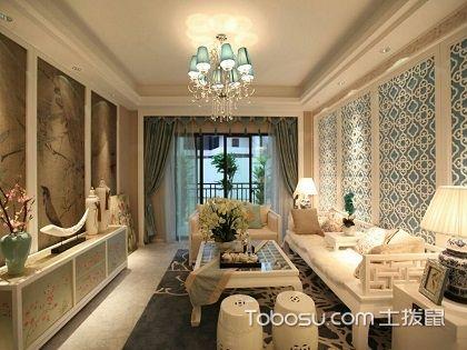 中式客厅吊顶效果图,带你玩转不同的色彩!