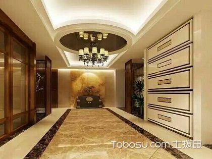 走廊吊顶造型,进门仰望美如画!