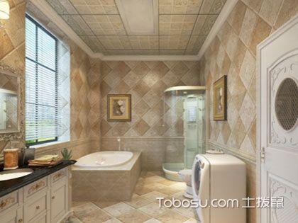 卫生间贴仿古砖效果图,品味复古感的典雅设计