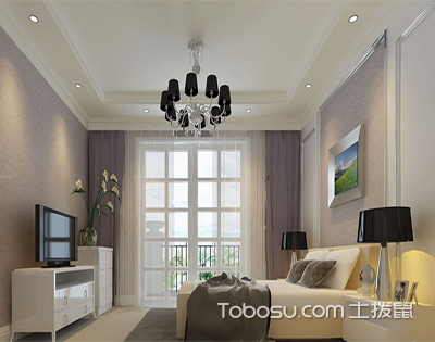 两室一厅装修效果图,细品浪漫田园风