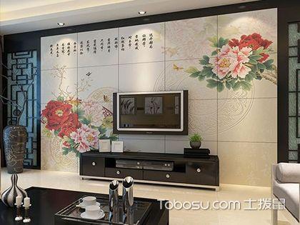 电视墙贴砖效果图欣赏,美观大气有品味