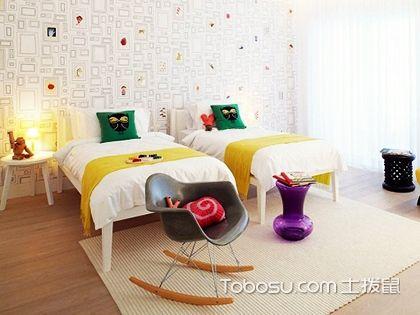 100平米家庭装修,白墙彩绘的温馨居室