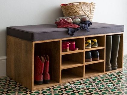 """鞋柜装修效果图,给你的鞋子装饰一个""""家"""""""