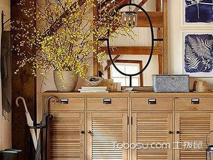 五款进门玄关鞋柜效果图,进门便是唯美风景