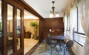 【客厅阳台】客厅阳台一体化,客厅阳台榻榻米设计,隔断,装修效果图