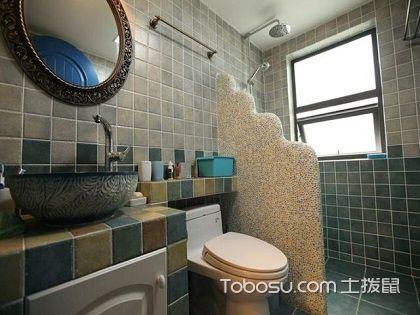 卫生间瓷砖装修效果图,时尚优美的洗浴环境