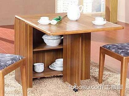 可折叠餐桌的选购有技巧,小户型装修的福音!