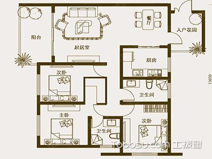 三室两厅两卫设计图,u乐娱乐平台设计要点必知!