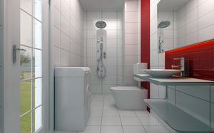 小户型卫生间设计说明,小户型卫生间干湿分离,收纳,装修效果图