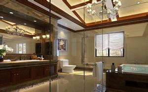 别墅卫生间布置,别墅卫生间吊顶,装修,装修效果图