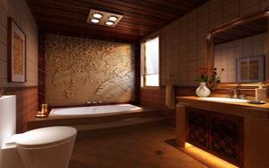 【中式卫生间】中式卫生间装修注意事项,中式卫生间布局,隔断,装修效果图