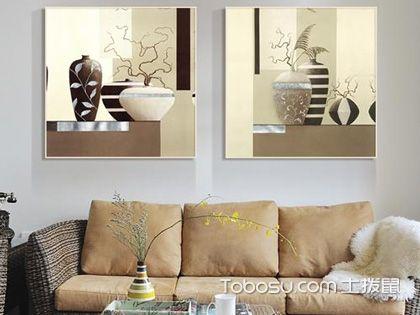 给客厅来点小亮点,装饰字画表示它有话说