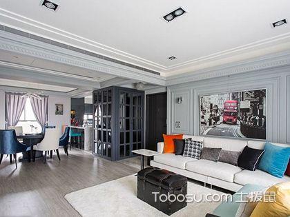 120平米四室一厅设计图,休闲式设计更显自由随性