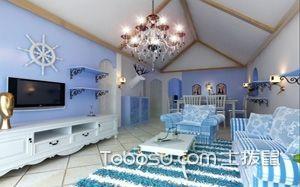 【地中海风格客厅】地中海风格客厅窗帘,地中海风格客厅灯,地砖,装修效果图