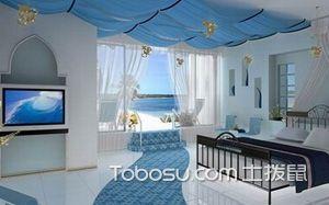 【地中海风格卧室】地中海风格卧室特点,地中海风格卧室吊顶,背景墙,装修效果图