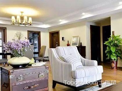 170平方四室两厅装修,美式混搭风也能淡雅出尘
