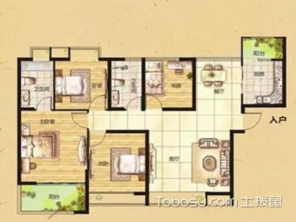 四室两厅户型图,大空间与自然更亲近