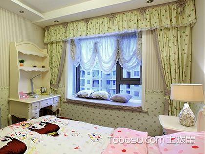 儿童房飘窗窗帘效果图,给孩子打造一个纯真天地