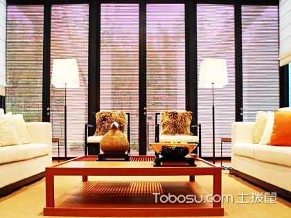 客厅百叶窗帘效果图,在斑驳光影中享受惬意生活!