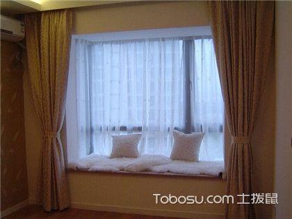 落地飘窗窗帘效果图,飘窗也是一道风景线