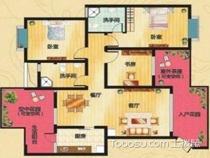 92平方三室二厅户型图,合理分区让生活更舒适