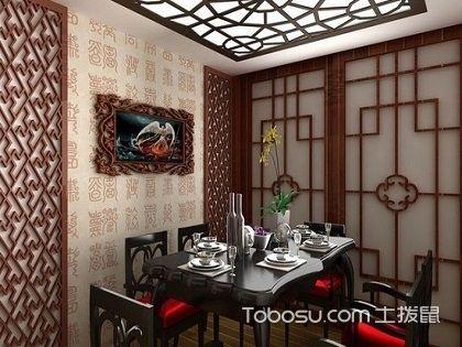 中式餐厅吊顶效果图,领略传统文化精髓