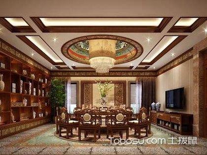 中式餐厅吊顶,感受浓浓古典韵味