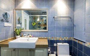 【蓝色瓷砖】蓝色瓷砖搭配,蓝色瓷砖易脏,卫生间,效果图
