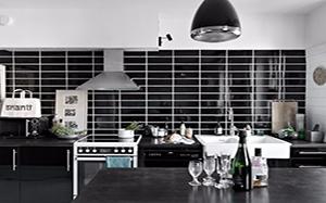 【黑色瓷砖】黑色瓷砖搭配,黑色瓷砖地板,电视墙,效果图
