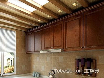 生态木厨房吊顶效果图:环保家居生活的首选
