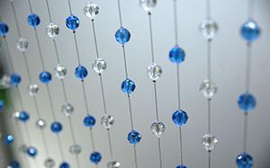 【玻璃珠帘】玻璃珠帘特点,玻璃珠帘作用,装在哪里好,图片