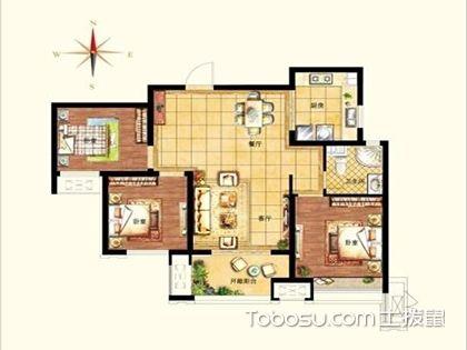 98平米三室二廳戶型圖解析,再完美的戶型總有些缺陷!
