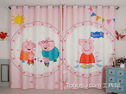 这里好像有几张你家孩子喜欢的儿童房窗帘效果图