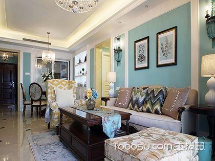 125平米室内装修,休闲的蓝色调美式生活