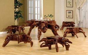 【树根家具】创意树根家具,树根家具分类,制作,图片
