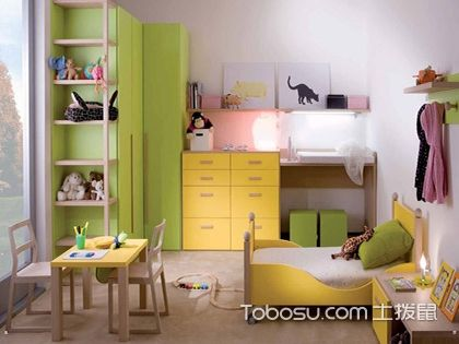 12平米儿童房装修效果图,5款搭配案例