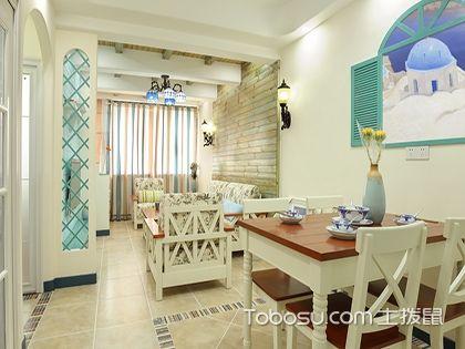 67平二居室装修效果图,旧房改造中的浅蓝色调