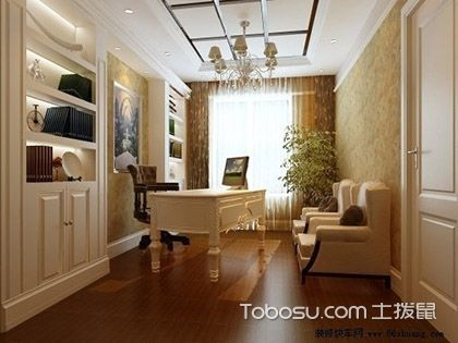欧式风格书房特点,宽敞明亮的艳丽色彩