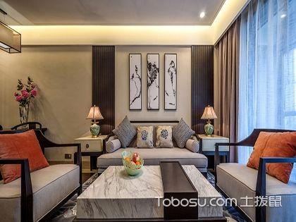 78平小户型二居室装修,新中式风格带来的文化复兴