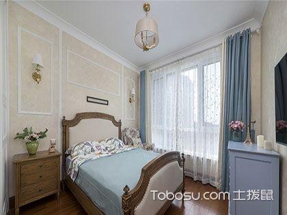 73平二居室装修效果图,美式风格小户型参考案例