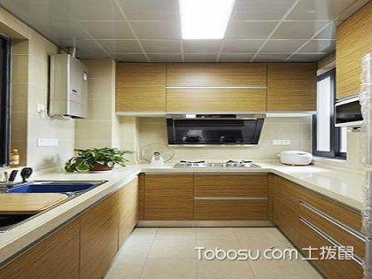 L型厨房设计效果,简单的造型设计可以利用更多空间!